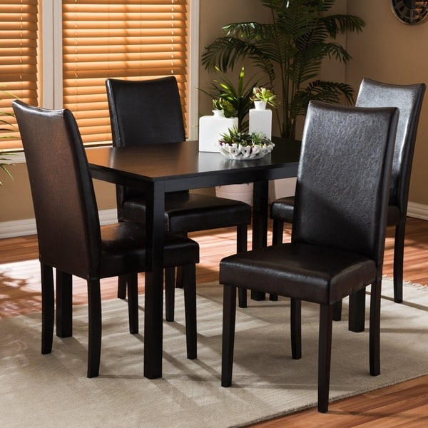 Sweden 5-piece Dark Brown Modern Dining Set