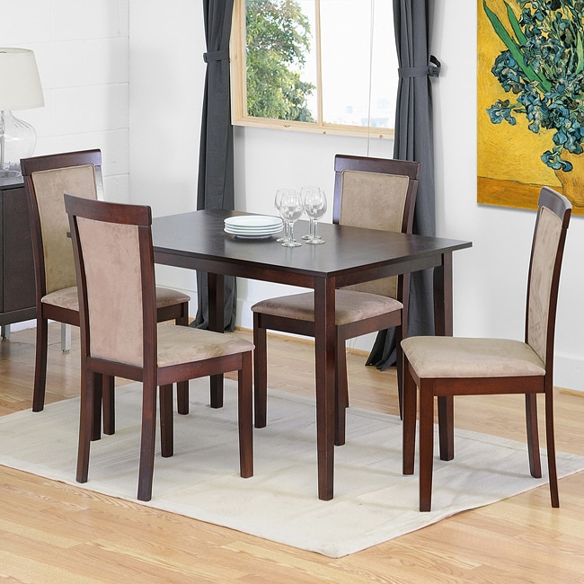 Spain 5-piece Dark Brown Modern Dining Set