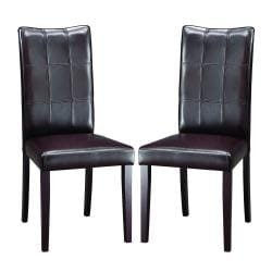 Eugene Dark Brown Modern Dining Chairs (Set of 2)