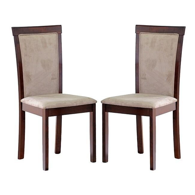 Spain Dark Brown Modern Dining Chairs (Set of 2)