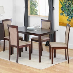 Spain Dark Brown Modern Dining Chairs (Set of 2)