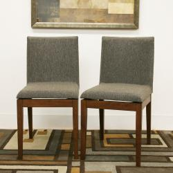 Moira Brown Modern Dining Chairs (Set of 2)