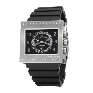 Hamilton Men's 'Khaki Action' Titanium and Rubber Chronograph Automatic Watch