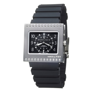 Hamilton Men's 'Khaki Action' Titanium and Rubber Black-Dial Automatic Watch