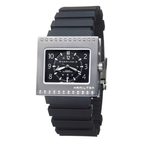 Hamilton Men's 'Khaki Action' Titanium and Rubber Black-Dial Automatic Watch