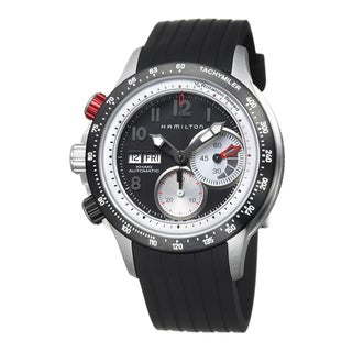 Hamilton Men's 'Khaki Aviation' Stainless Steel and Rubber Watch