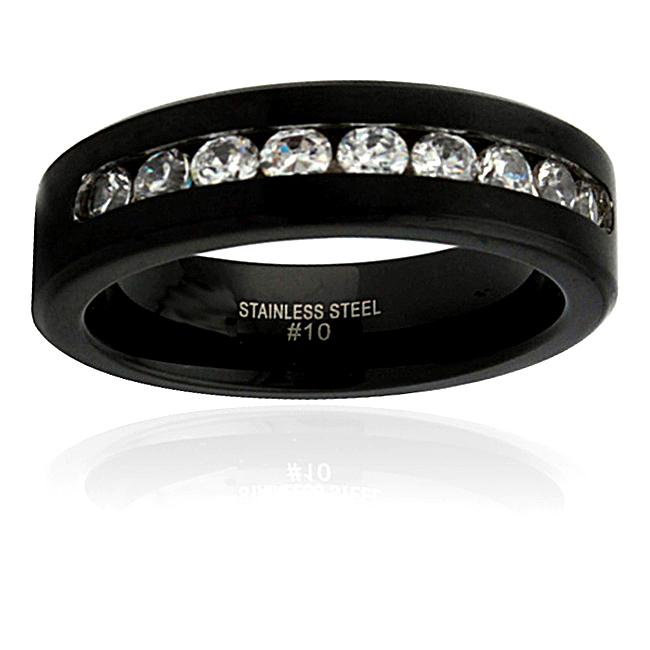 Stainless Steel Cubic Zirconia Fashion Ring