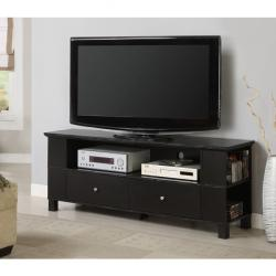 Black Wood 60-inch TV Stand