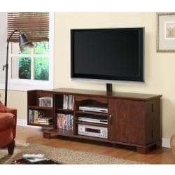 Brown Wood 60-inch TV Stand with Mount