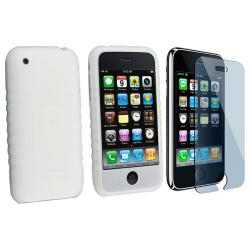 Silicone Case/ Screen Protector for Apple iPhone 3GS/ 3G