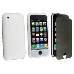 Silicone Case/ Privacy Screen Filter for Apple iPhone 3G/ 3GS