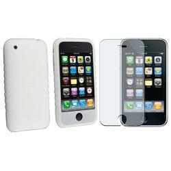 Silicone Case/ Anti-glare LC Protector for Apple iPhone 3G/ 3GS