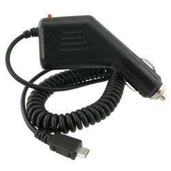 Black Micro USB Car Charger for BlackBerry 9300 Curve 3G