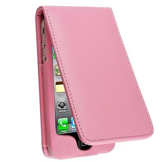 Light Pink Leather Case for Apple iPhone 4