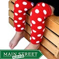 Headbandz Red and White Polka Dot Baby Leg Warmers