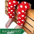 Headbandz Red and White Polka Dot Baby Leg Warmers