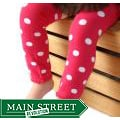 Headbandz Hot Pink and White Polka Dot Baby Leg Warmers