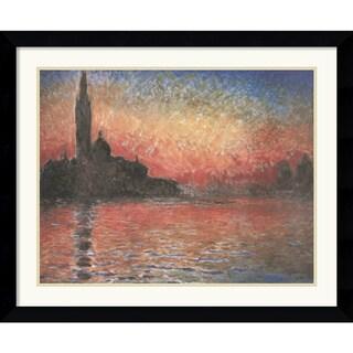 Claude Monet 'Dusk, Sunset in Venice, 1908' Framed Art Print