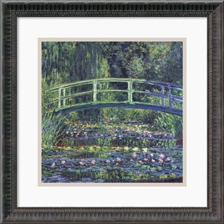 Framed Art Print 'Water Lily Pond, 1899 (blue)' by Claude Monet 19 x 19-inch