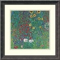 Gustav Klimt &#39;Farm Garden with Sunflowers, c. 1906&#39; Framed Art Print