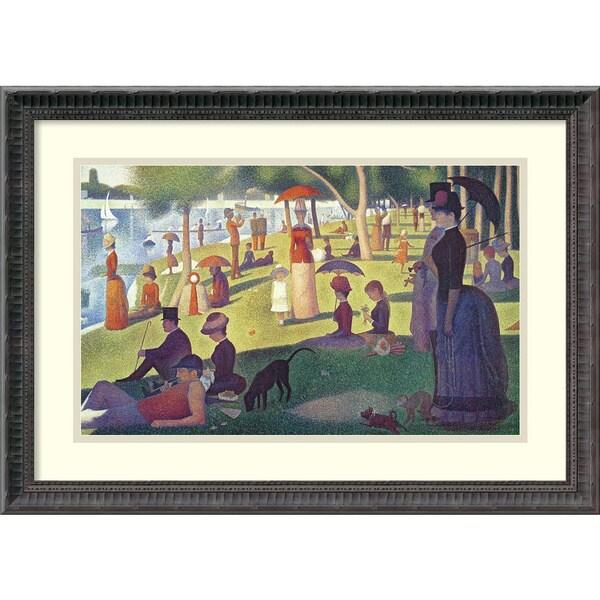 Georges Seurat 'Sunday Afternoon on the Island of La Grande Jatte, 1884-1886' Framed Art Print
