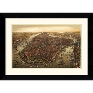 Ward Maps 'New York, 1873' Framed Art Print