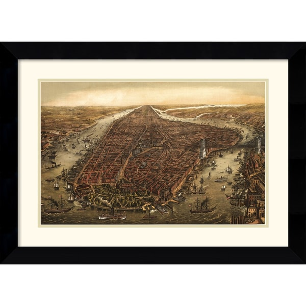 Ward Maps 'New York, 1873' Framed Art Print