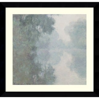 Claude Monet 'The Seine at Giverny, Morning Mists, 1897' Framed Art Print