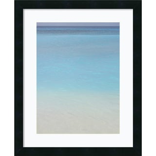 Brian Leighton 'Bleu 2' Framed Art Print