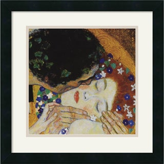 Gustav Klimt 'The Kiss (head detail)' Framed Art Print