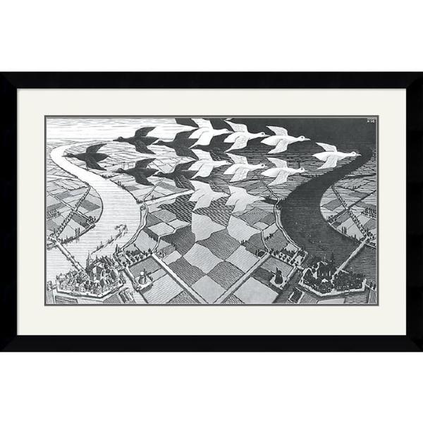 M. C. Escher 'Day and Night' Framed Art Print