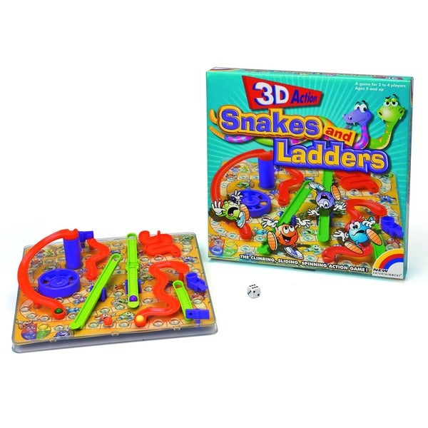 Intex Games 3D Action Snakes and Ladders Traditional Board Game 7587868
