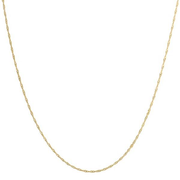 Fremada 14k Yellow Gold Singapore Chain Necklace (16-30 inch)