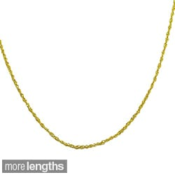 Fremada 14k Yellow Gold Singapore Chain Necklace (16-30 inch)