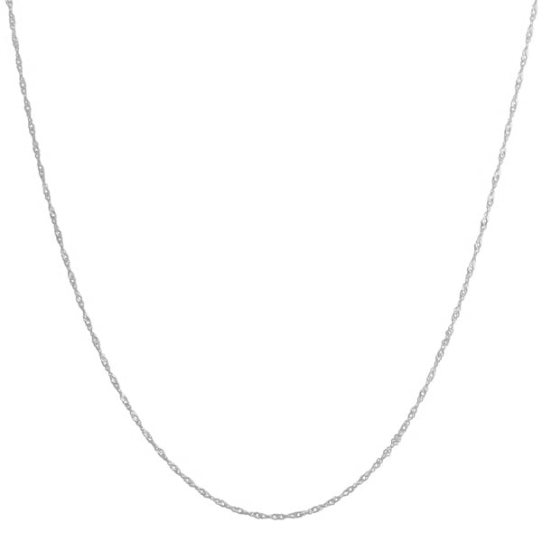 Fremada 14k White Gold Singapore Chain Necklace (16-30 inch)