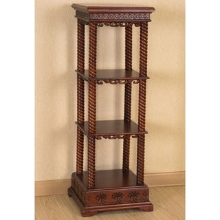 International Caravan Windsor Hand-carved Wood Square Stand