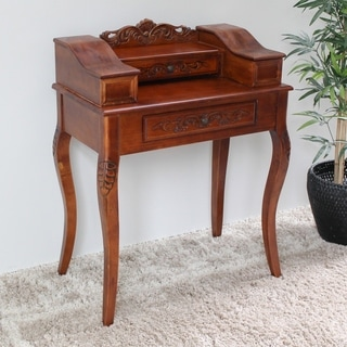 International Caravan Shangri-La Hand-carved Wood Telephone Table