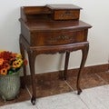 International Caravan Shangri-La Hand-carved Wood Telephone/ Side Table