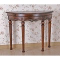 International Caravan Shangri-La Hand-carved Wood Half Round Table