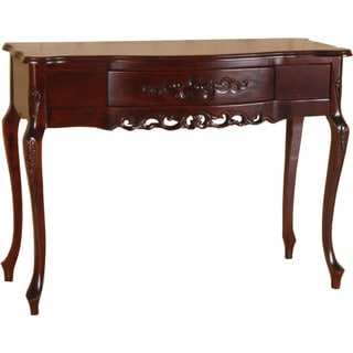 International Caravan Shangri-La Hand-carved Wood Table