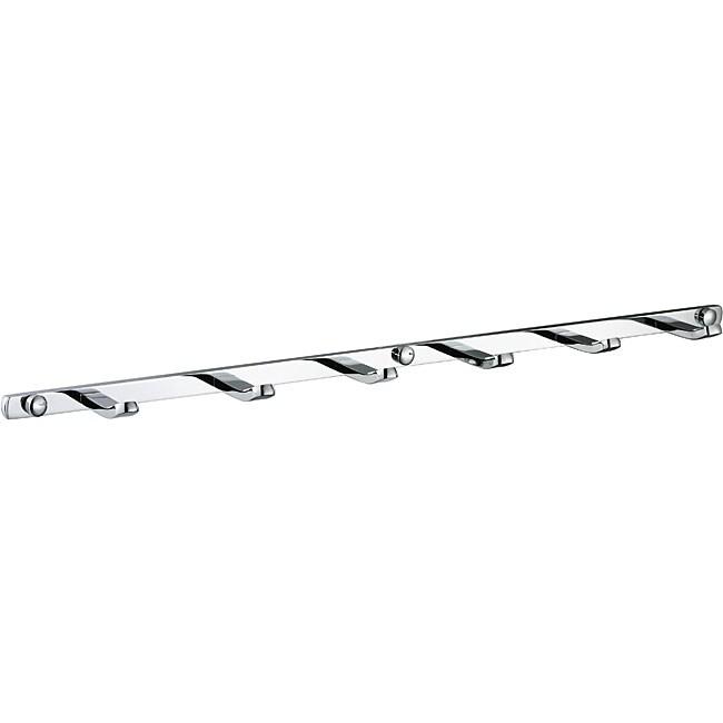 Utility Hook Six-Peg Tie and Belt Storage Rack