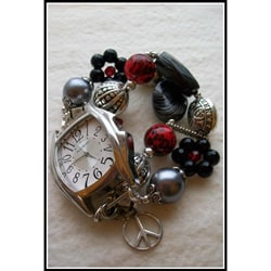Beads with Bling Handmade Beaded Twilight Watch Band