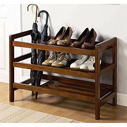 wood shoe racks