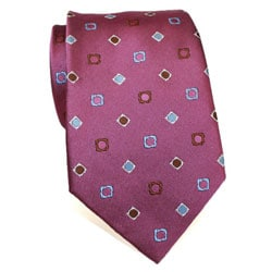 H. Luzzario & Co Men's Silk Fuchsia Patterned Tie