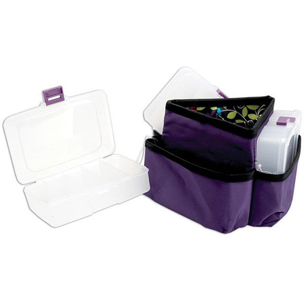 Mackinac Moon Purple Triangle Storage Spinner with Plastic Cases
