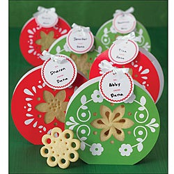 Martha Stewart Scandinavian Poinsettia Treat Bags (Pack of 6)