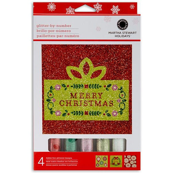 Martha Stewart Holiday Glitter by Number Set (Pack of 4)