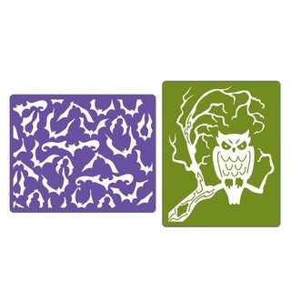 Sizzix Textured Impressions 'Bats & Owls' Embossing Folders (Pack of 2)