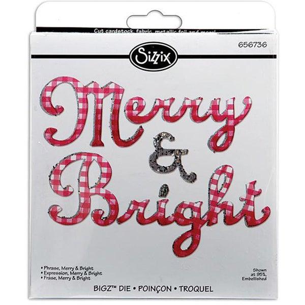 Sizzix Bigz Merry & Bright Phrase BIGkick/ Big Shot Die