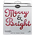 Sizzix Bigz Merry & Bright Phrase BIGkick/ Big Shot Die